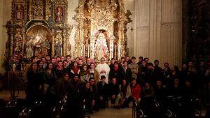 Misa de San Juan Evangelista junto al resto de hermandades de la Colegial